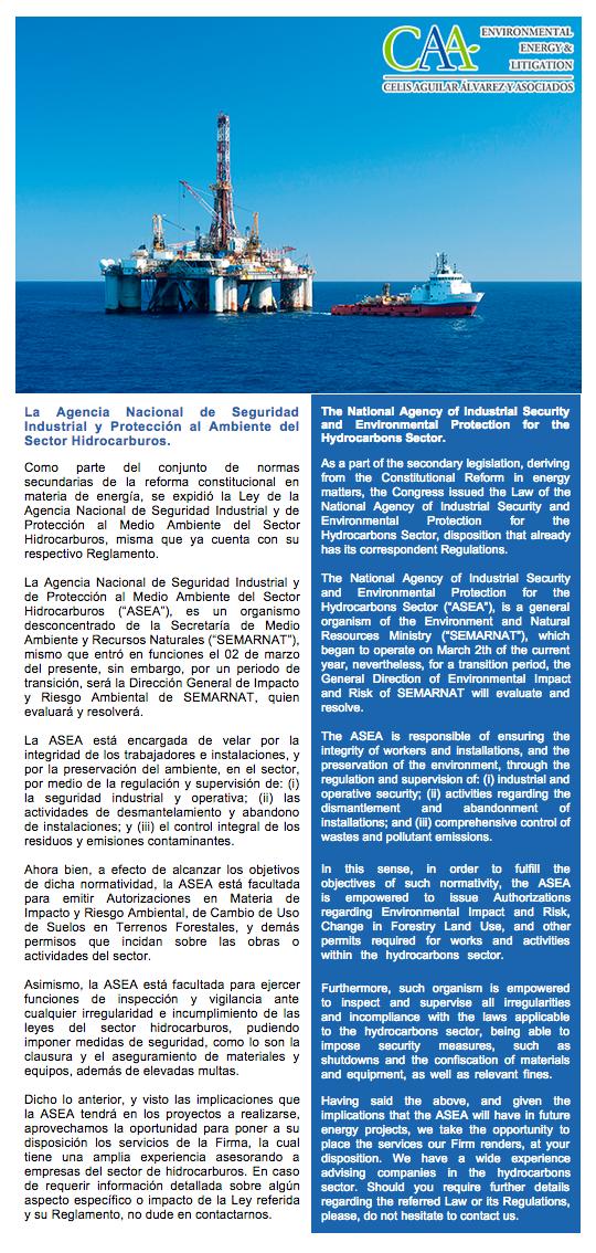 4 La Agencia Nacional de Seguridad Industrial y Protección al Ambiente del Sector Hidrocarburos 26-Mar