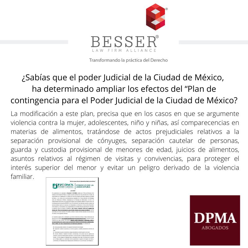 DPMA, informa en relación a las medidas que el TSJCdMX ha implementado en relación a juicios en materia familiar.