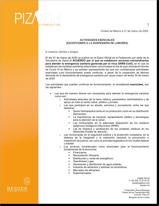 BOLETIìN- Actividades Esenciales (Covid-19)